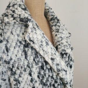 Steve Madden black and white wool coat